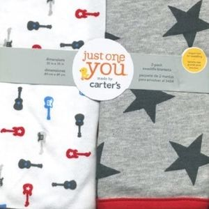 ISO** 2 pack Carter's swaddle blankets